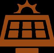 brown-solar-panel-icon